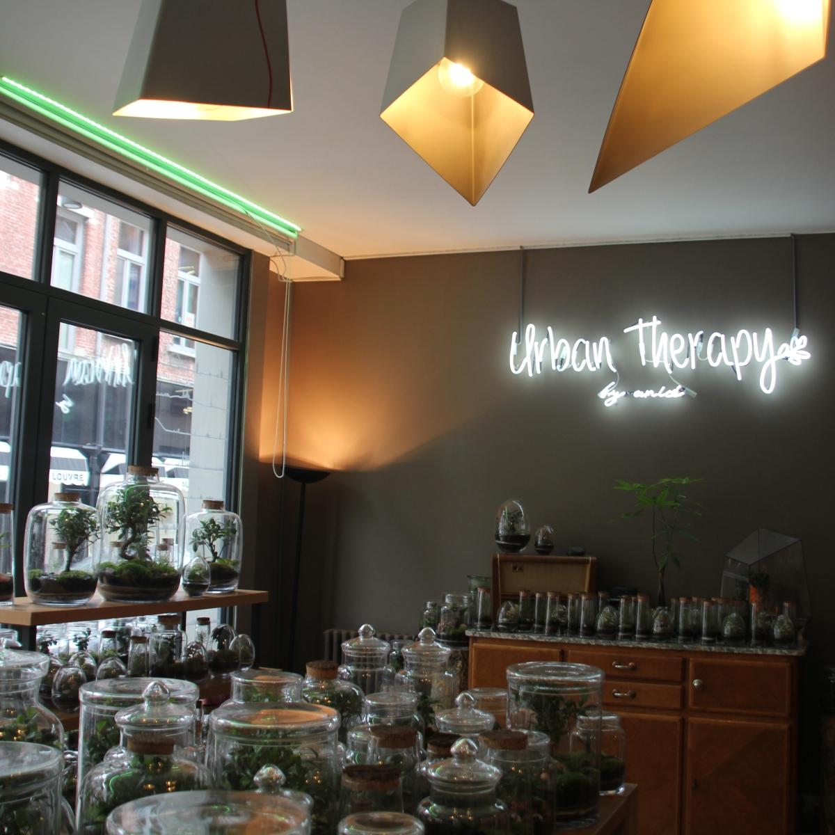Thé, Brunch, Cadeaux et Terrariums chez Urban Therapy à Bruxelles